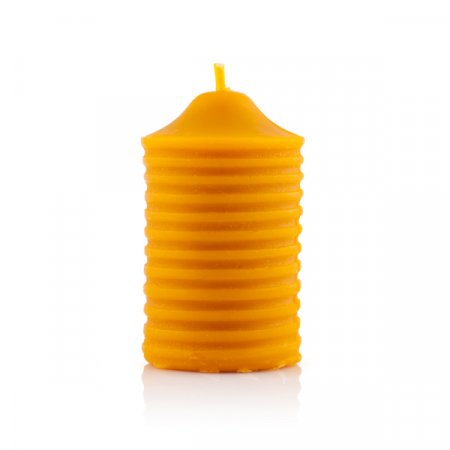 Candle with stripes