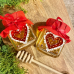 Hand painted glass of honey heart