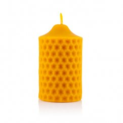 Candle with honey comb