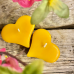 Candle heart - Colour: yellow