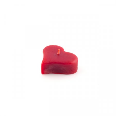 Candle heart - Colour: red