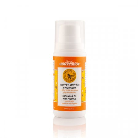 Hair and body oil with propolis with lemon, orange, grapefruit and tangerine